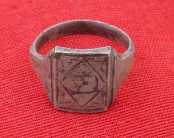Vintage Antique Collectible Tribal Old Silver Ring India