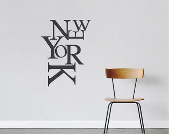 Modern New York Wall Lettering Decal New York Font Wall Vinyl Sticker New  York Removable Wall Home Design Ideas
