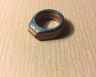 Recycled skateboard ring size 9