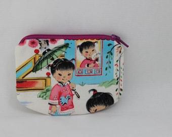 Little Zipper pouch, coin purse retro