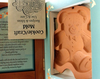 Terracotta Mold - Teddy Bear Mold - Fox Run Craftsmen Country Cupboard