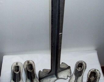 Gietijzer schoenlappers aambeeld en 5 vormen van de schoen