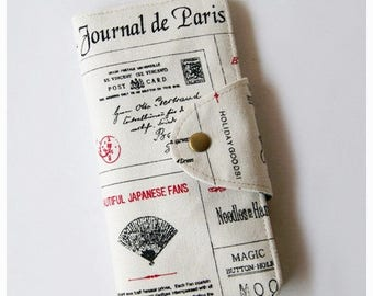 SALE 25% Long Passport Wallet, Passport Holder, Boarding Pass Holder, Family Passport Wallet - Journal de Paris