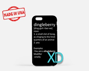 Dingleberry iPhone Case, Funny iPhone Case, Dirty Insult iPhone 8 Case, iPhone 6s Case, iPhone 7 Case, Phone Case, iPhone X Case, SE Case