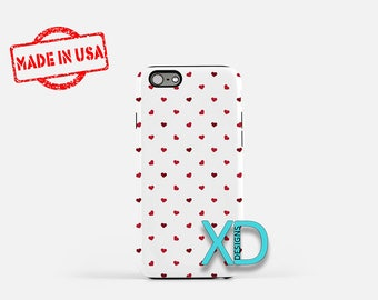 Tiny Heart Phone Case, Tiny Heart iPhone Case, Cutesy iPhone 7 Case, Red, Cutesy iPhone 6 Case, Tiny Heart Tough Case, Clear Case, Valentine