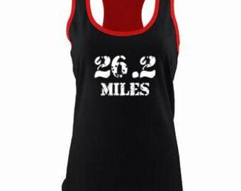 26.2 Miles  Running Tank Marathon Tank Color Block Tank Marathon Training Tank Marathon Running Tank