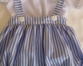 Hand made stripe bubble with straps