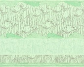 Tree Stripe Border in Pistachio by Carolyn Friedlander Fabric Robert Kaufman Tree Fabric Modern Fabric Modern Green Border Fabric Quilting