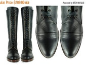 THANKSGIVING SALE POE Black Leather Lineman Pebbled Leather Combat  Cap Toe Goodyear Welted Boots. (All Sizes)