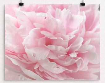 "Abstract Peony Print, Pink Peony Flower Photograph, Choose Your Size From 8""x10 to 30""x40, ""Enchanting"""