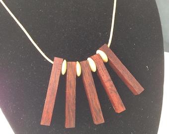 Necklace. Jarrah with bone bead