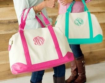 Monogram Weekender Bag - Overnight Bag - Monogrammed - Gift For Her - Personalized Bag - Travel Bag - Monogram Tote Bag - Monogram Bag