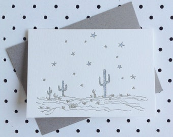 Desert Letterpress card