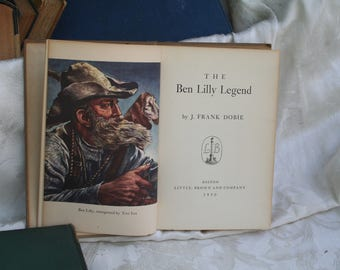 "Vintage 1950 First Edition ""The Ben Lilly Story"" by Frank Dobie!  Autographed Hardcover w/ B&W Photos + Illustrations!"