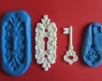 Vertical key hole silicone mould
