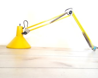 Vintage Industrial Clamp Lamp Wall or Shelf Mount Task Light