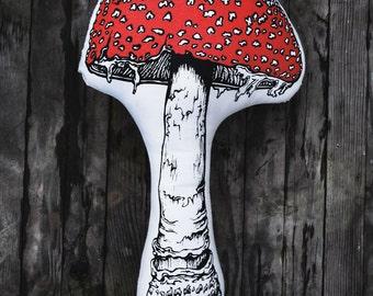 Toadstool Mushroom Pillow