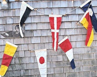 Nautical Flag Signal Pennant Flag Number 2nd Office Blue and White Pennant Man Cave Signal Flag