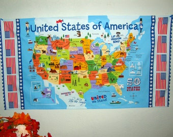Landmark Map Etsy - Us map with landmarks