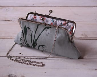 Screen Printed Snowdrop Handbag