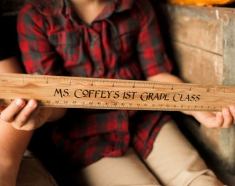 """Personalized 12"""" Ruler, Engraved Ruler, Teacher Appreciation Gift, Teacher's Ruler, Father's Day Gift"""