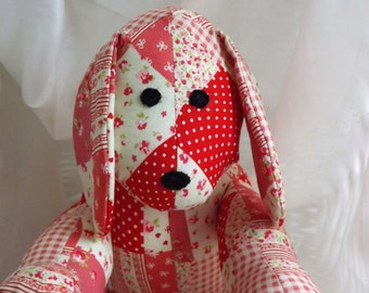 Puppy Dog Handmade from Red Square printed patchwork fabric
