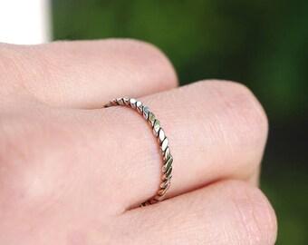 Handmade silver ring