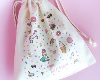 """""""My little mess"""" pouch in cotton - mothers day gift"""