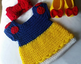 Crochet Snow White Costume