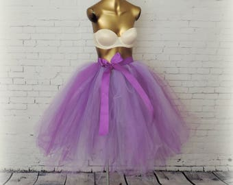 Lavender and purple tea length tutu bridal wedding adult womens tutu engagement photo tutu special occasion tutu sewn tutu