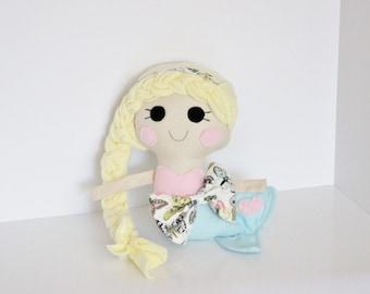 Pastel Butterfly Mermaid Plush Doll
