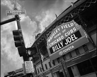 Billy Joel Wrigley Field Marquee 2016 Photograph