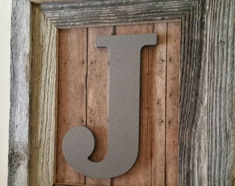 Personalized Gift, Letter Frame, Baby Name Sign, Baby Initial, Baby Boy Nursery Decor
