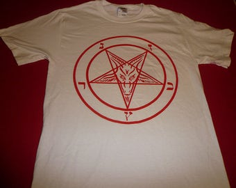 Pentagram T shirt Tee Witchcraft Evil Satan Wicca mens horror clothing