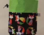 Small drawstring project bright foxes