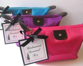 Bridesmaid Survival Kit! Bridesmaid Gifts Wedding Day Emergency Kit Thank Gift