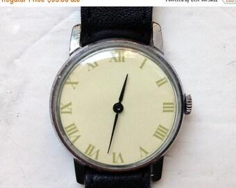 "Mens watch ,Soviet watch , Russian watch, yellow watch ,Mechanical watch ,classic watch ""Pobeda"""