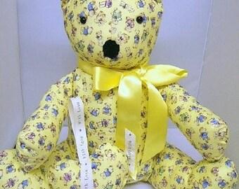 Nursery Teddy Bear Set in Lemon