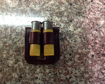CMEHOLSTERS Brown Snap On Leather Cartridge Holder Fits 20 ga