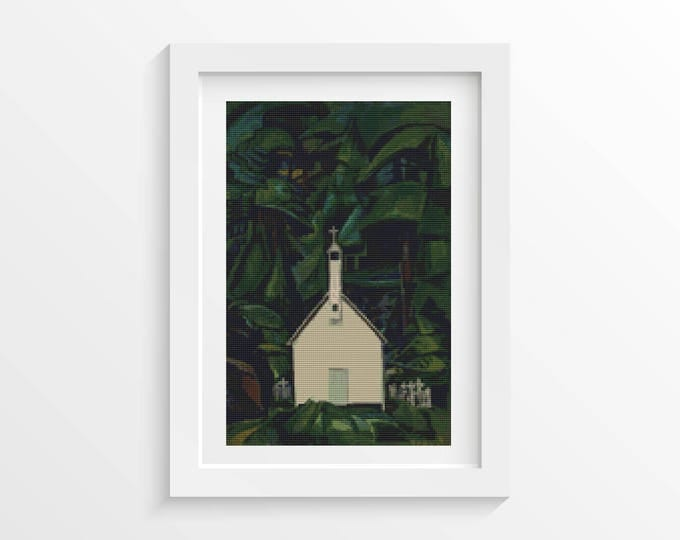 Indian Church Cross Stitch Pattern PDF by Emily Carr (CARR02)