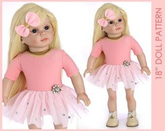 18 inch doll clothes patterns, Doll leotard Pattern, Doll Patterns, 18 doll clothes patterns, 18 inch doll pattern, DOLL LEOTARD