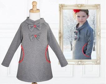 Stretch Girls Dress Pattern pdf, Girls Sewing Pattern, Easy Beginner, Winter Dress Pattern, Childrens Sewing Pattern, Kids Pattern, HEIDI