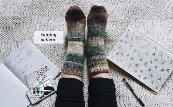 Simple Socks Knitting Pattern Bed Socks Knitting Pattern