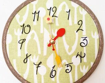Green Kitchen clock