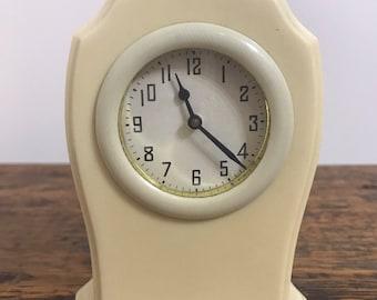 Antique Ivory Ladies Vanity Dresser Clock