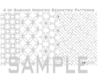 Sashiko Geometric Pattern (2_Modified)