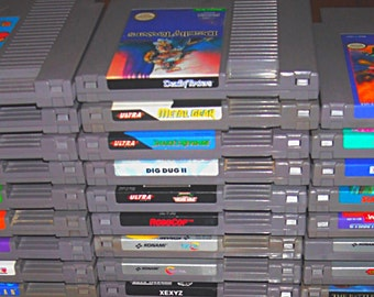 Vintage Nintendo Video Games for the Original NES Entertainment System - Authentic, Retro Gaming
