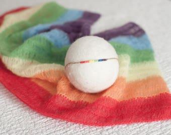 Rainbow Baby Wrap, Mohair Rainbow Wrap, Rainbow Prop, Pastel Rainbow Wrap, Rainbow Baby Photo Prop, Rainbow Newborn Layer, Rainbow Baby Prop