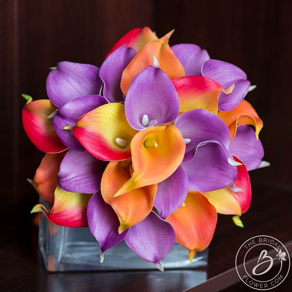 Flowers Similar To Lilies: Items Similar To Fall Wedding Bouquet, Calla Lily Bouquet