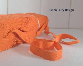10 yds / 9 meters Cotton Tape Orange 1 Arrow Twill Tape Ribbon Herringbone 10 mm Wrapping Binding Tape Bias Tape Craft supply